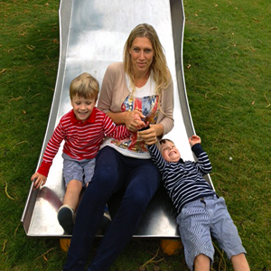 Janey Holliday and her twin boys