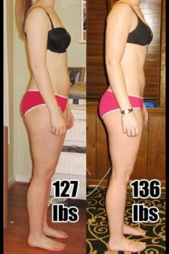 Same woman at different weights