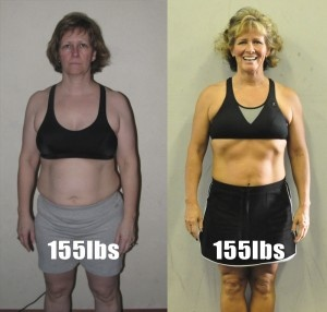 one woman two different weights