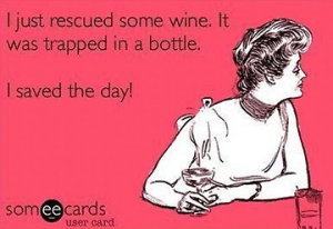 Saved the day wine