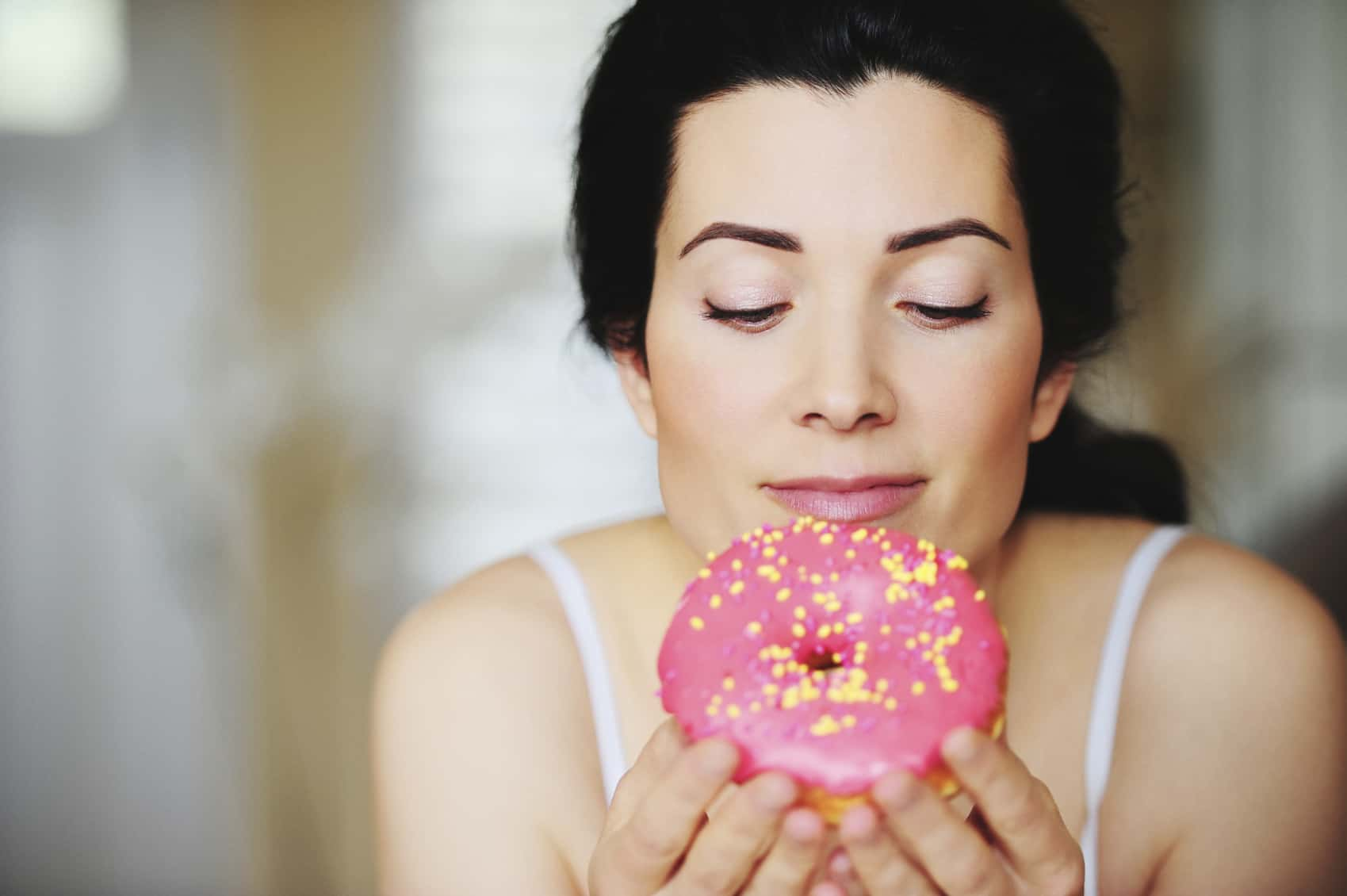 Pink donut High Res Image