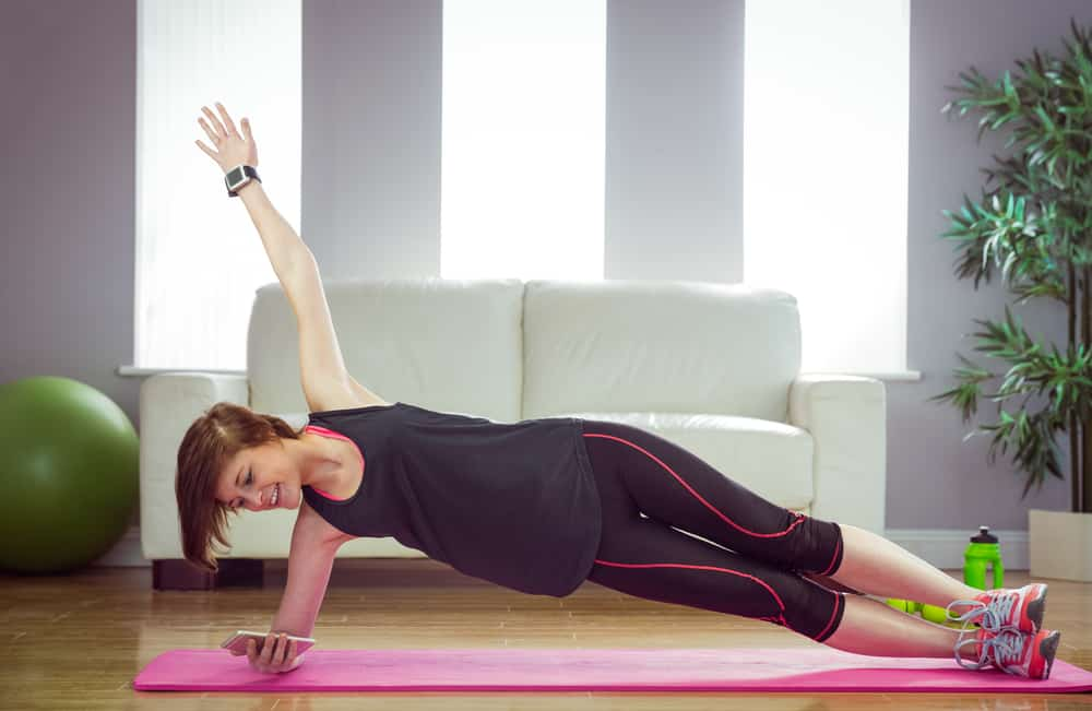 Side plank IPhone