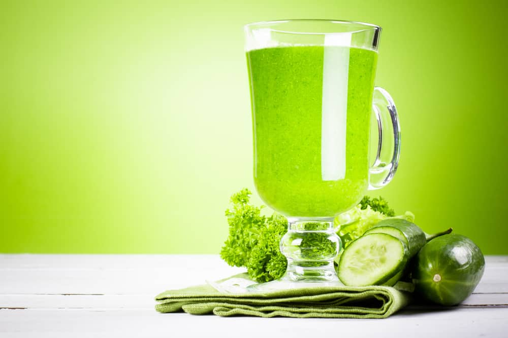 Fasting and green juice High Res Image