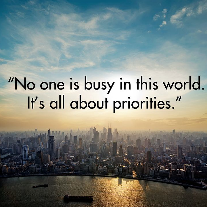 It's all about priorities