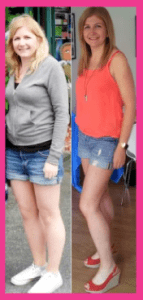 BB Rachel before and after pink
