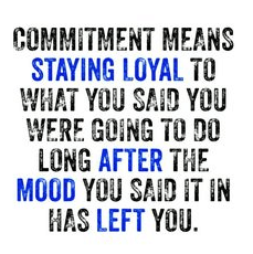 Commitment and staying